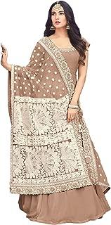 FashionUma Womens Faux Georgette Embroidered Anarkali Semi Stitched Salwar Suit