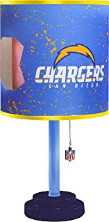 Idea Nuova NFL NK980170C San Diego Chargers Table Lamp with Die Cut Lamp Shade & CFL Bulb