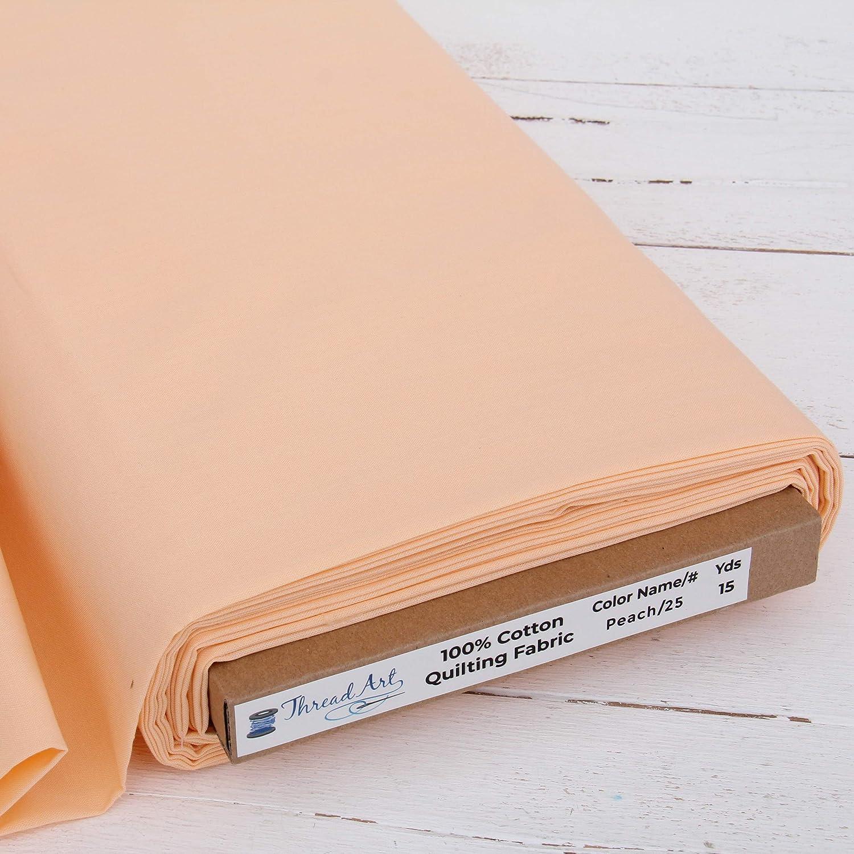 10 Large discharge sale Yard Cut ThreadArt Premium online shop Cotton 4 Peach - Fabric Quilting