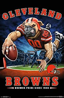 Trends International Cleveland Browns-End Zone Mount Bundle Wall Poster 22.375