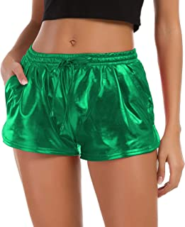 green sparkle shorts