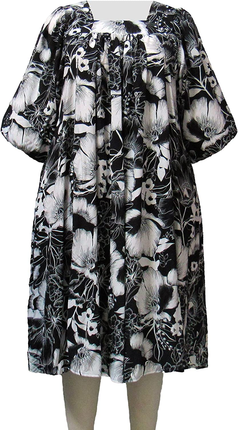 A Personal Touch Black & White Blossom Women's Plus Size Float Dress