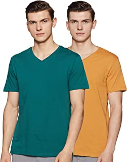 Amazon Brand - Symbol Men's Solid Regular Fit Half Sleeve T-Shirt