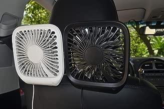Tougou Electric Backseat Car Fan for Van, Portable Fans USB for Car, 12v Cooling Fan Mini Desk Fan for Kid/Dog/Rear Seat Passenger, Black,Small Personal Fan for Car (Black) (Black)