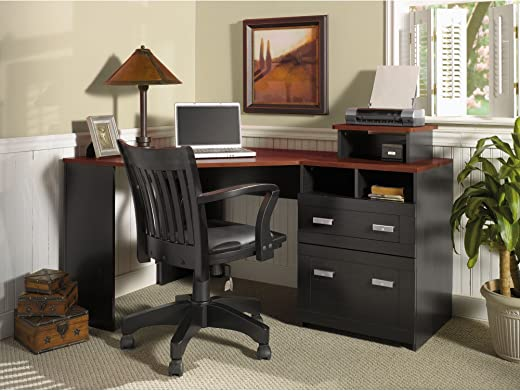 B010C5MN5M✅Wheaton Collection Reversible Corner Desk with Printer Stand