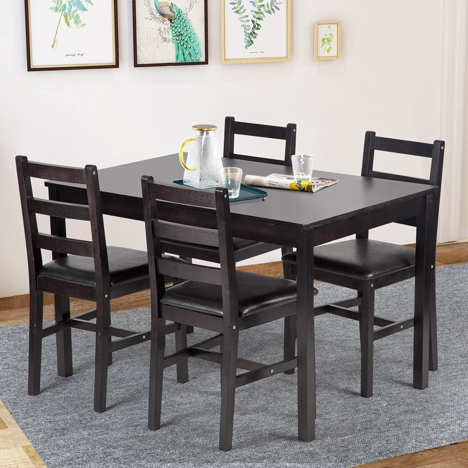 Dining Table Set Pine Kitchen Columbus Financial sales sale Mall for and 4 Chairs