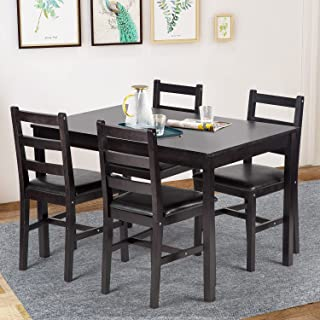 Dining Table Set Pine Kitchen Table and Chairs for...