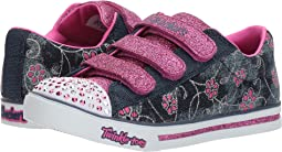 SKECHERS KIDS - Sparkle Glitz - Denim Daisy (Little Kid/Big Kid)