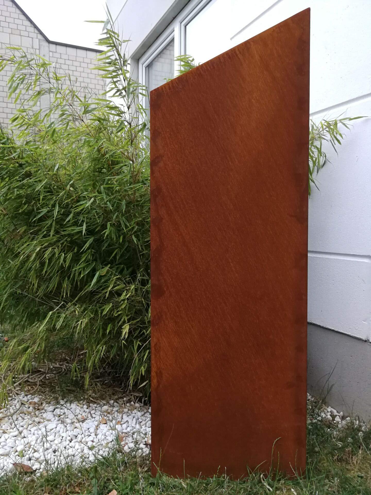 Zen Man 031997-1 - Valla de jardín de Metal Oxidado, 1 mm, Rejilla de jardín, decoración de jardín, Aspecto Oxidado, protección Visual, 150/125 x 50 cm: Amazon.es: Jardín