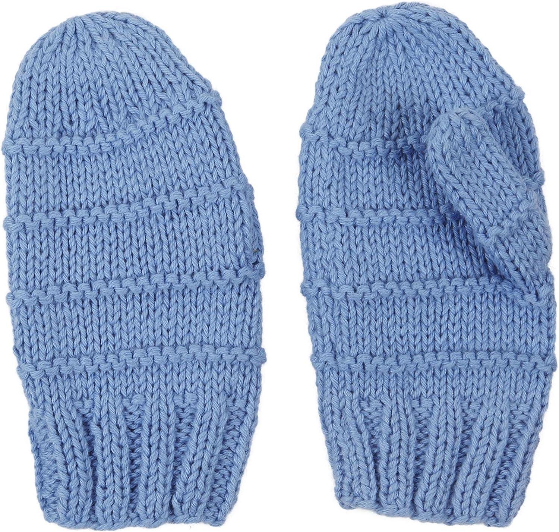 2H Hand Knits Baby Boys' Knit Mittens - Lake Blue - X-Small