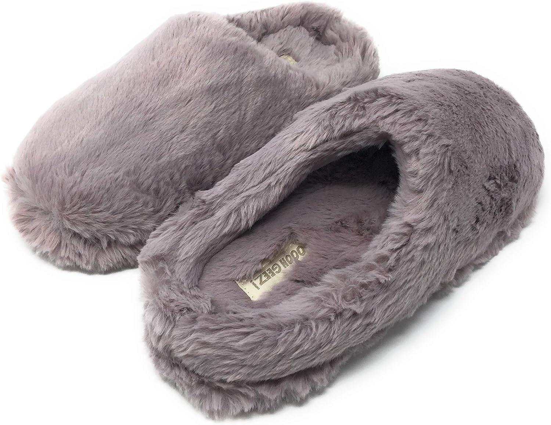 Ooohyeah Women's Fluffy Slip-on Sabrina purplec Slippers Outdoors Indoors