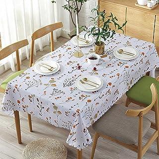 YUANYOU Tovaglia in PVC facile da pulire con motivo di rami arancioni rettangolare strofinata riutilizzabile spessa tovagl...