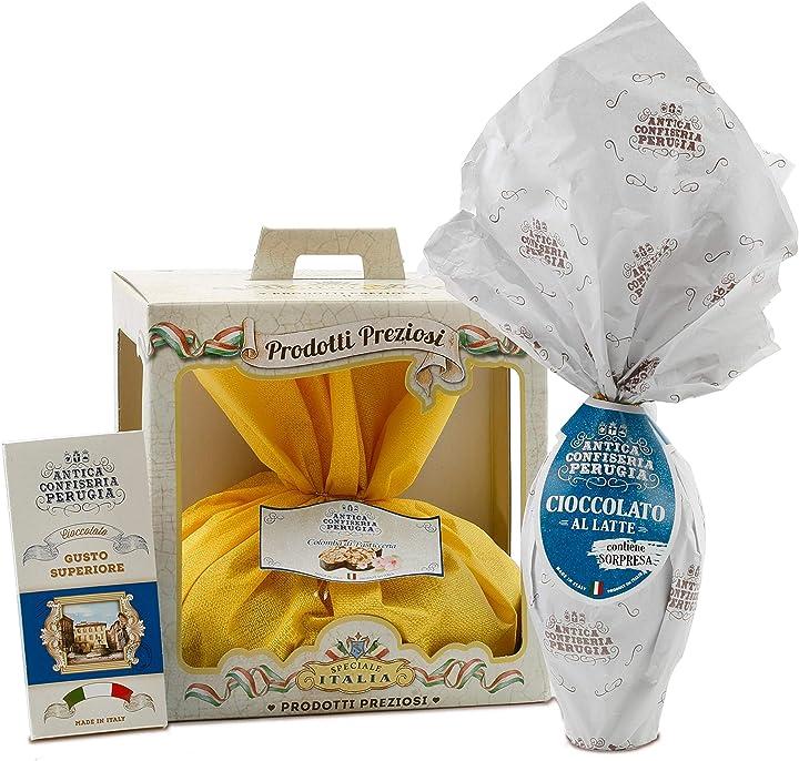 Cesto pasquale - speciale italia - prodotti artigianali italiani: uovo, colomba, cioccolato B0793Z26ZD