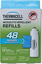 Thermacell Mosquito Repellent Refills, 48-Hour Pack; Contains 12 Repellent Mats, 4 Fuel Cartridges; Compatible with Any Fu...