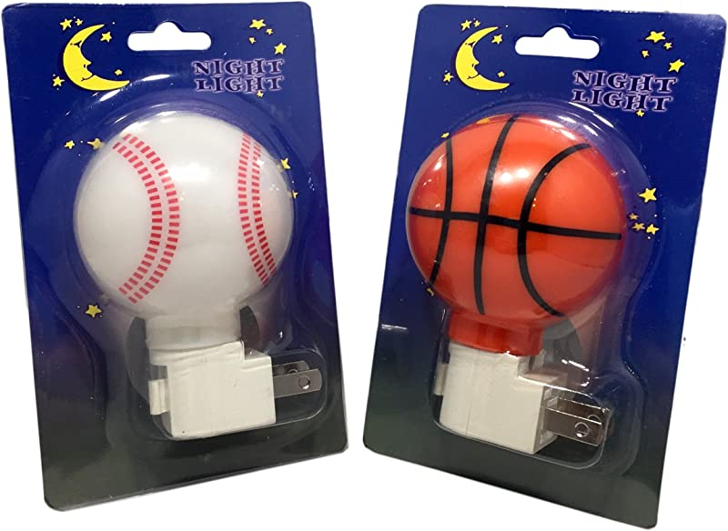 Lunamax Baseball And Basketball Night Light Combo Pack