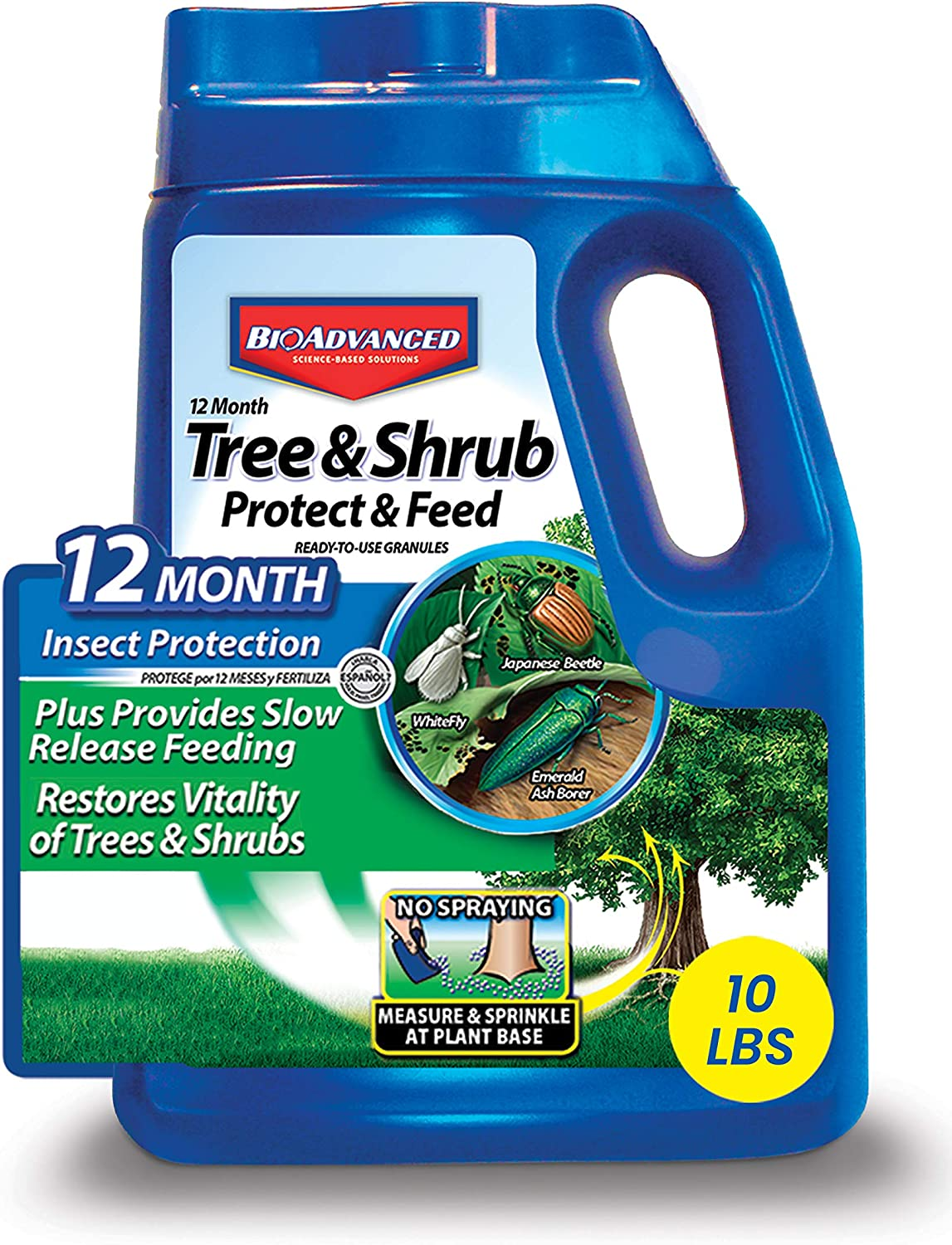 BIOADVANCED Challenge the Regular store lowest price 701910A 12-Month Tree and Ins Protect Shrub Feed