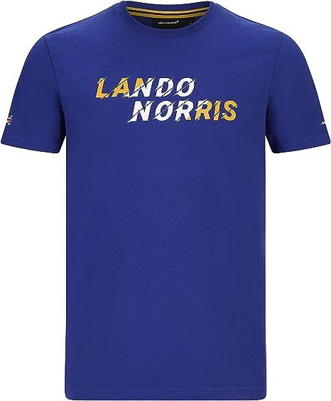McLaren Official Formula 1 - Colección Merchandise 2020 - Camiseta Lando Graphic - Bambino - Azul - Talla 92 a 164