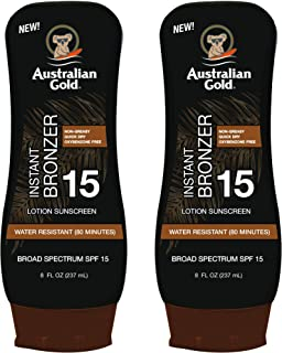 Australian Gold Spf 15 Lotion Bronzer Twin Pack, 16 Ounce (Pack of 3)