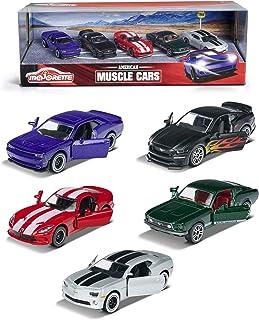 Majorette - Muscle Cars Giftpack - Voitures Miniatures en Métal - Coffret 5 Véhicules - 212053168
