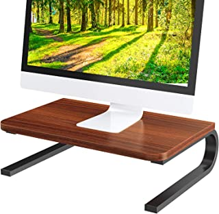 Jct425 Wood Monitor Stand With Docking Station
