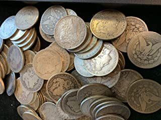 1878 to 1921 Morgan Silver Dollars - Set of 5 Coins - Mixed Dates and Mint Marks - 5 Different Dates - $1 Average Circulated for its Age