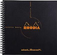 Rhodia Reverse Book & Dot Book - Dot Grid 80 sheets - 8 1/4 x 8 1/4 - Black Cover