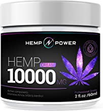 Hemp Power Pain Relief Cream - 10000MG - Relieves Muscle, Joint Pain, Lower Back Pain, Knees, and Fingers - Inflammation - Hemp Extract Remedy - Hemp Oil with MSM - Arnica - Turmeric by Hemp Power