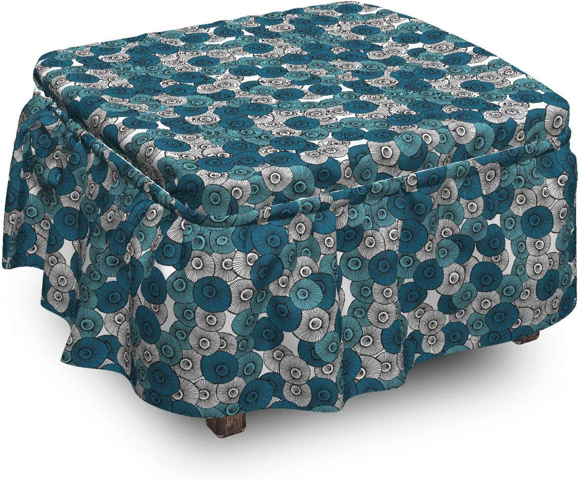 Ambesonne Botanical Ottoman Cover Doodle Gifts Streaks 2 with Sale Piece