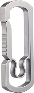 BANG TI Titanium Anti-lost Quick Release Men's Keychain Hook (C1, 10-Year Guarantee Ultralight Large Capacity)