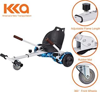 Hoverboard Seat Attachment, Go Kart, Hoverboard Go Cart Accessories, Heavy Duty Frame, Fun for Kids Fits 6.5