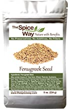 The Spice Way Fenugreek Seeds - Whole   8 oz   great for Indian curry seasoning