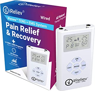 iReliev TENS + EMS Combination Unit Muscle Stimulator for Pain Relief & Arthritis..