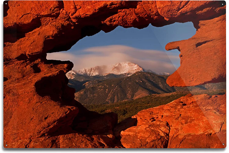 Lantern security Bargain sale Press Colorado Springs Garden Peak from Pikes