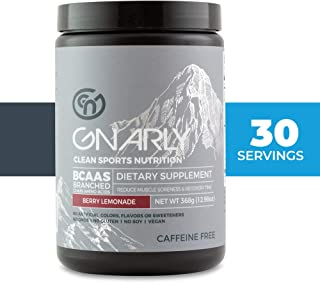 Gnarly Nutrition, BCAA Pre and Post Workout Supplement to Reduce Muscle Soreness, Caffeine-Free Natural Berry Lemonade (30 Servings)