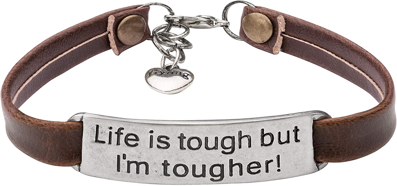 UNQJRY Bracelets for Women Inspirational Brithday Gift Learther Jewelry Vintage Novel Girl's Bracelet