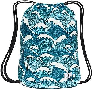 Dry Wet Separated Swimming Bag Floral Waterproof Drawstring Backpack Pool Beach Travel Gym Bag