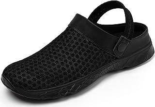 katliu Mujer Hombre Zuecos Zapatillas para Casa/Piscina/Playa/Jardín - Transpirables, Cómodas y Ligeras