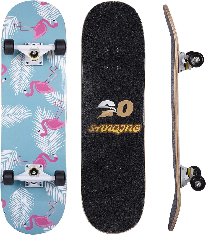 Cash Super sale special price HXSYD Skateboard-Standard Skateboards for Kids Youths Boys Girls