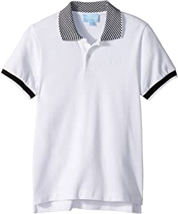 Lanvin Kids - Checkered Collar Polo (Little Kids/Big Kids)