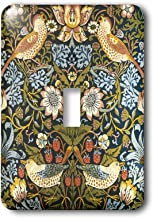3dRose lsp_219390_1 William Morris Strawberry Thief Pattern Single Toggle Switch