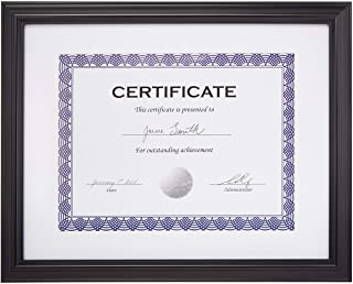 "AmazonBasics Certificate Document Frame With Mat, 8.5"" x 11"", Black, 3-Pack"