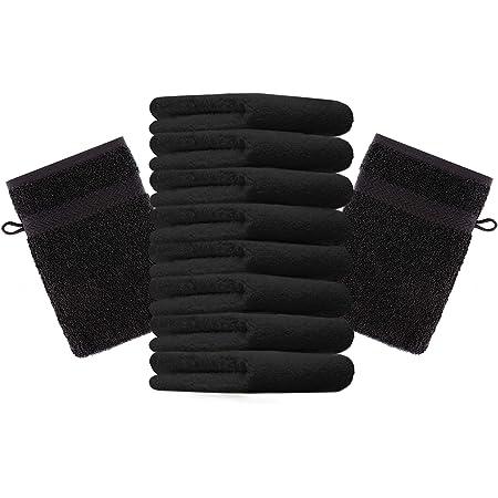 Betz Lot de 10 Gants de Toilette Premium 100/% Coton Taille 16x21 cm Graphite Vert Sapin