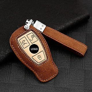 غطاء مفتاح السيارة ، لمرسيدس بنز A C E S G GLS Class W177 W205 S205 E213 W222 G63 C217 C213 C205 AMG ، جلد الغزال غطاء مفت...