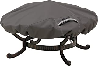 Classic Accessories 55-147-015101-EC Ravenna Round Fire Pit Cover, Small, Taupe