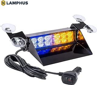 LAMPHUS SolarBlast SBWL14 Emergency Vehicle LED Dash Light [4W LED] [32 Unique Flash Patterns] [Adjustable Angle] Strobe Light for Dash, Deck & Windshield