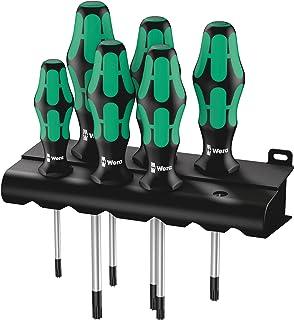 WERA 367/6 TORX® Screwdriver set Kraftform Plus and rack, 6 pieces