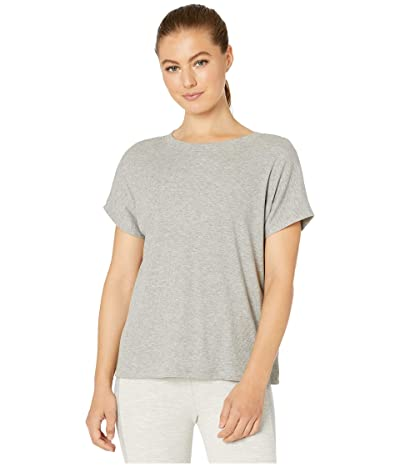 Beyond Yoga Split Keyhole Back Tee (Light Heather Gray) Women