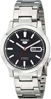 Men's SNK795 Seiko 5 Automatic Stainless Steel Watch with Black Dial