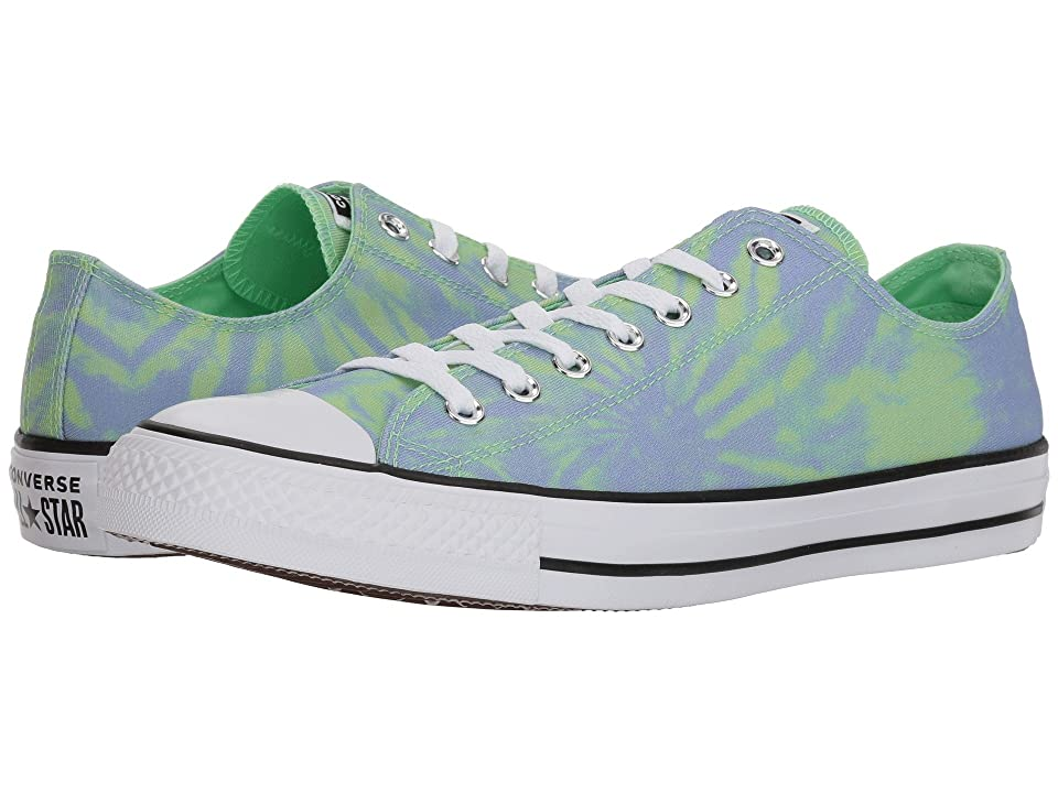 Converse Chuck Taylor(r) All Star(r) Ox Tie-Dye (Illusion Green/Twilight Pulse/White) Classic Shoes