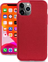 Evutec Ballistic Nylon iPhone 11 Pro 5.8 Inch, Unique Heavy Duty Premium Protective Military Grade Drop Tested Shockproof Phone Case Cover(AFIX+ Magnetic Mount Included) (Red)